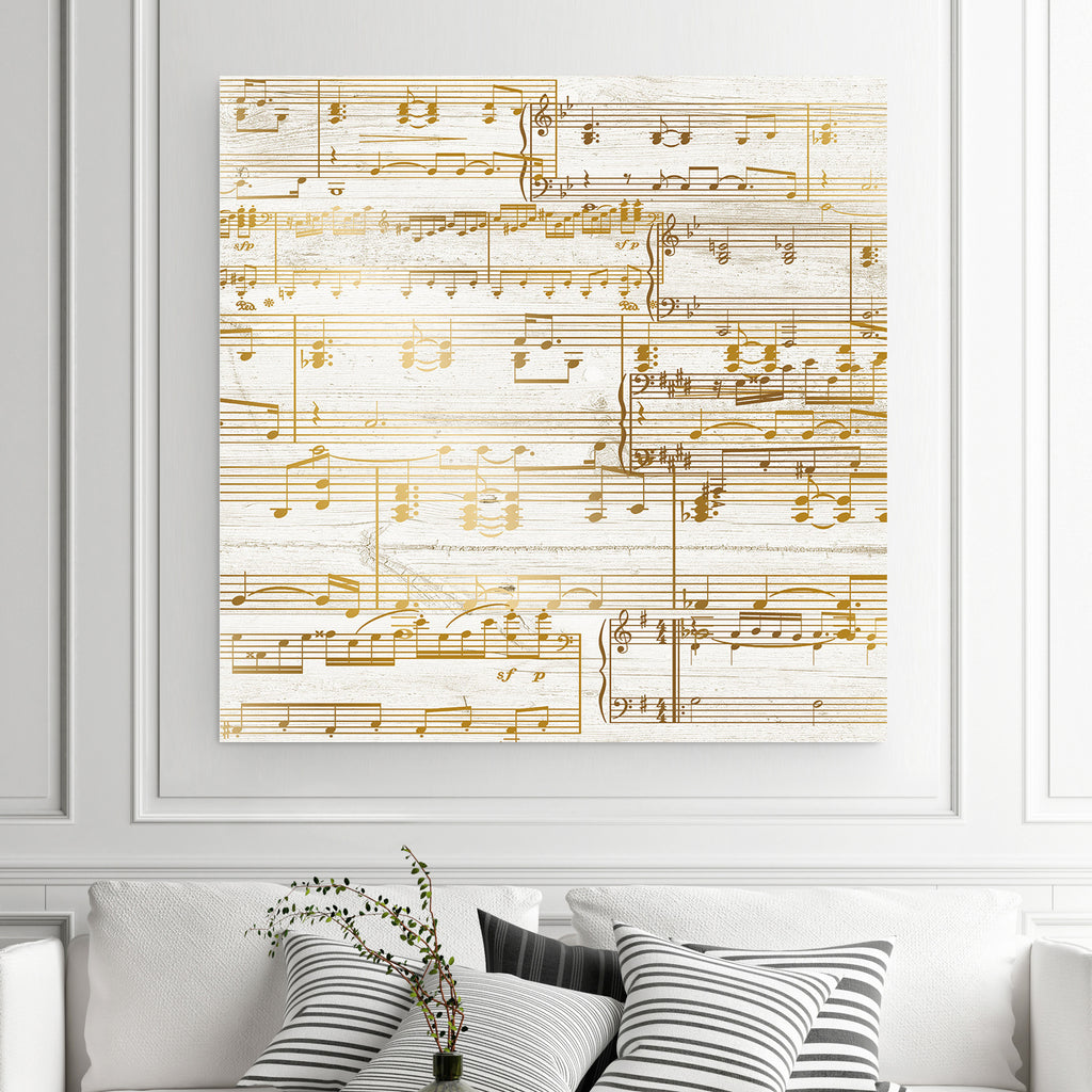 Gold Sheet Music Canvas - 50th Anniversary Gift