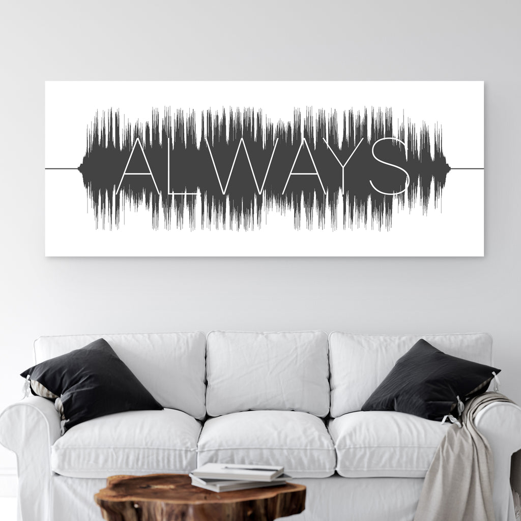 Soundwave Art With Text