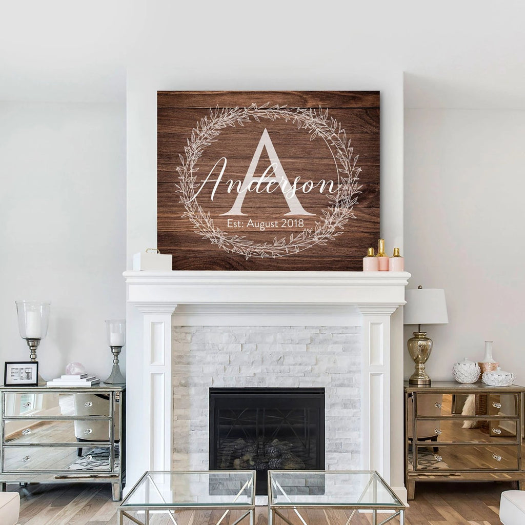 Brown Monogram Sign