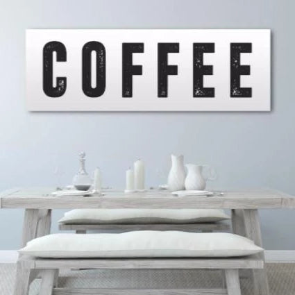 Coffee Home Decor Canvas - Canvas Vows
