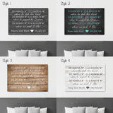 Different Style Options - Important Dates Canvas
