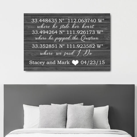 First Dance Lyrics On Canvas - A Custom Made Canvas With Your Wedding Song