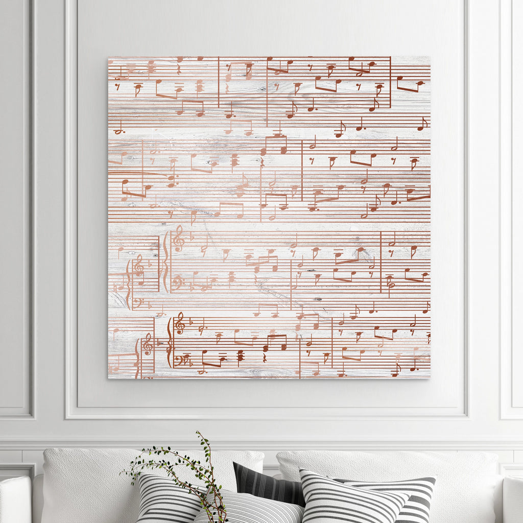 Sheet Music Art - Copper Tone