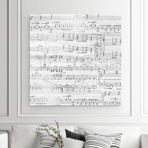 Sheet Music On Canvas - A Custom Made Canvas With Your Song