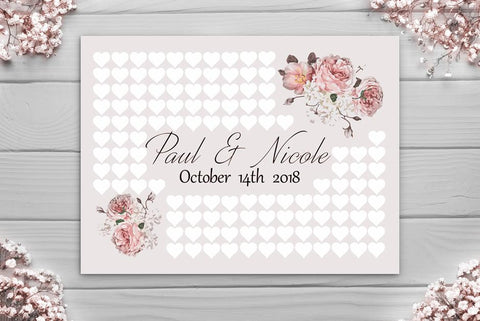Wedding Guest Book - Large Circle Alternative