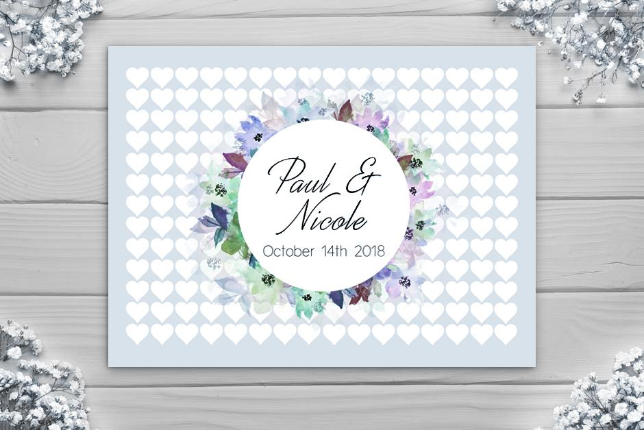 Wedding Guest Book - Large Circle Alternative - Canvas Vows