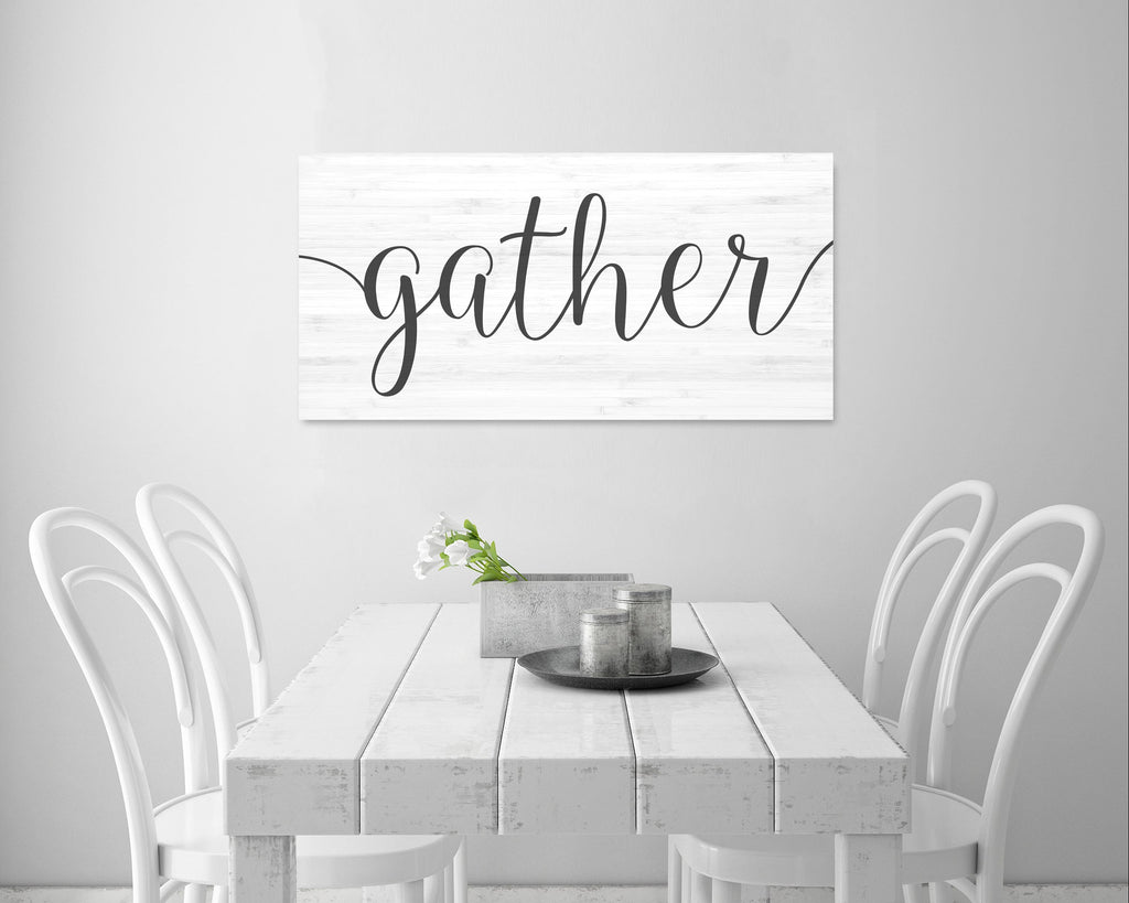 gather sign kitchen decor