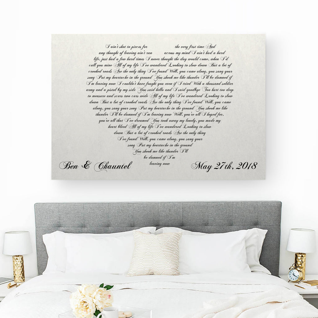 heart lyrics canvas - canvas vows