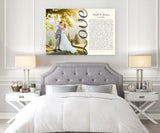 Love Photo - Song Lyrics On Canvas