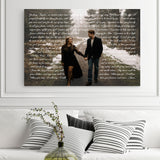 Photo And Lyrics Canvas