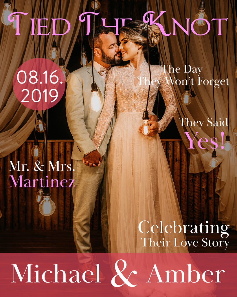 Magazine Cover Wedding Sign 24x30 1
