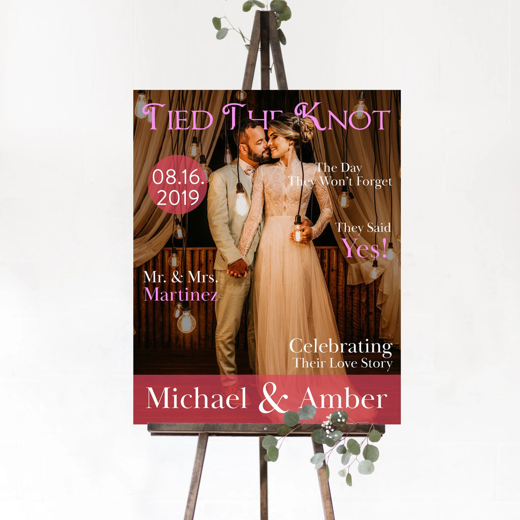 Magazine Cover Wedding Sign 24x30