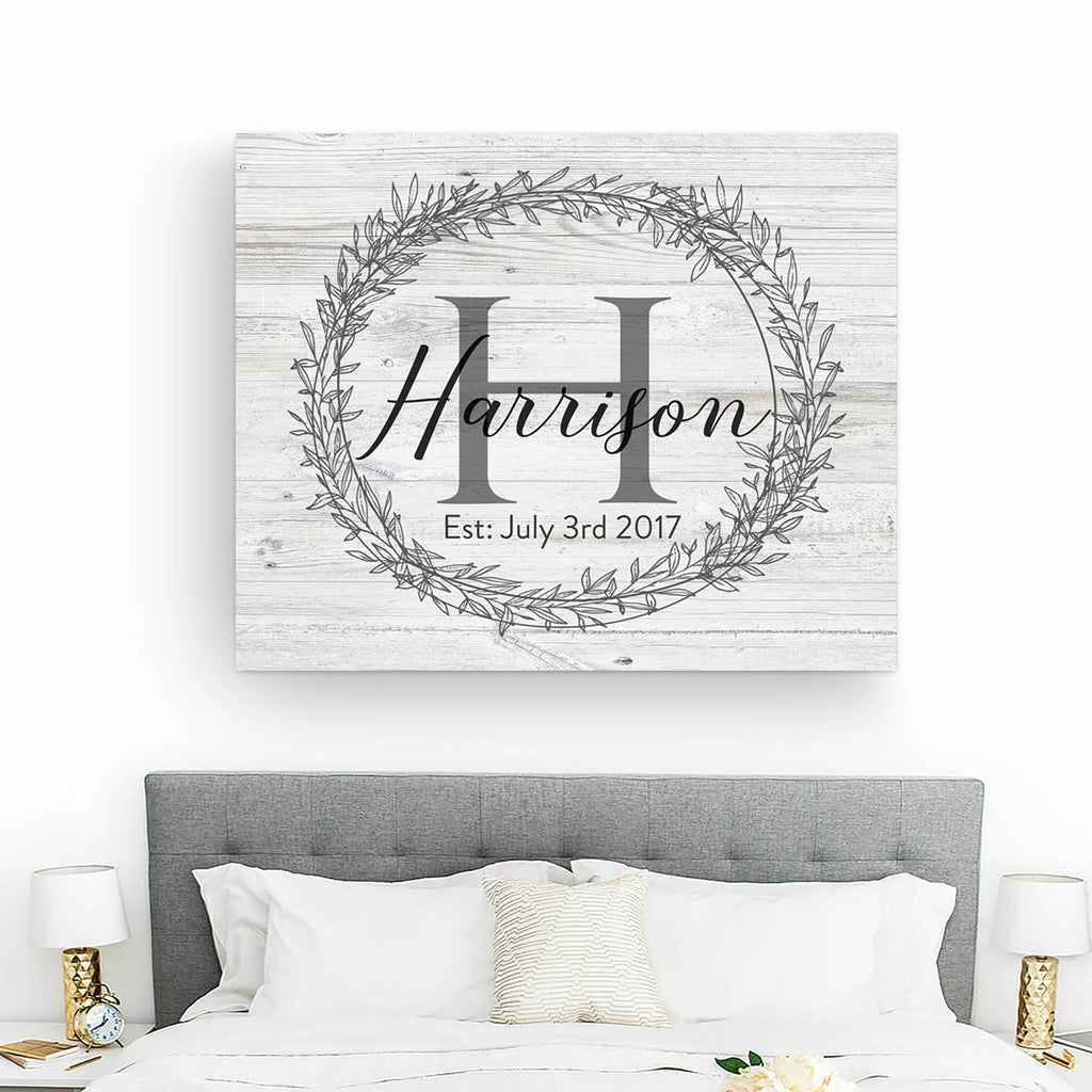 Rustic Monogram Sign