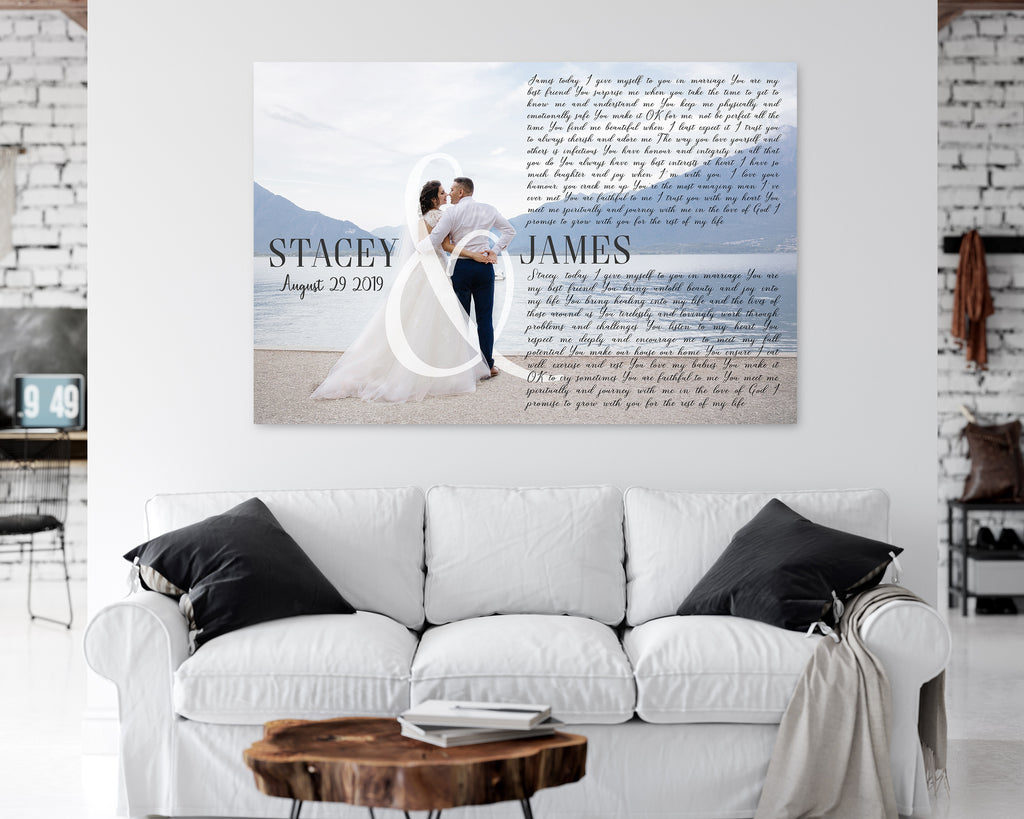 Names & Date Song Lyrics On Canvas