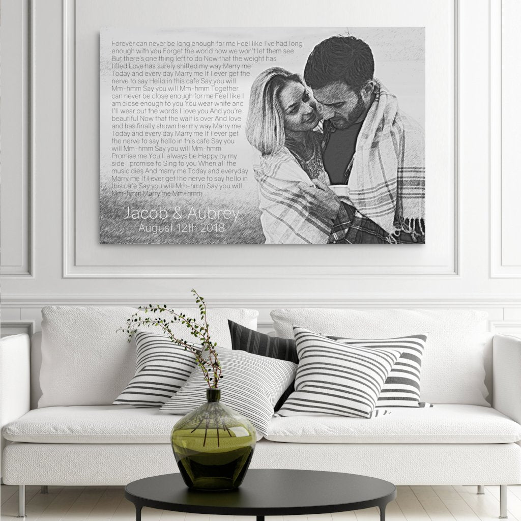 Photo To Pencil Sketch - With Lyrics Or Vows