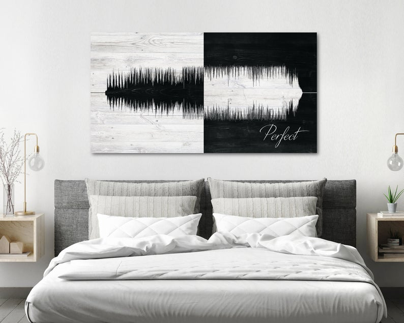 Personalized Cotton Sound Wave Second Anniversary Gift