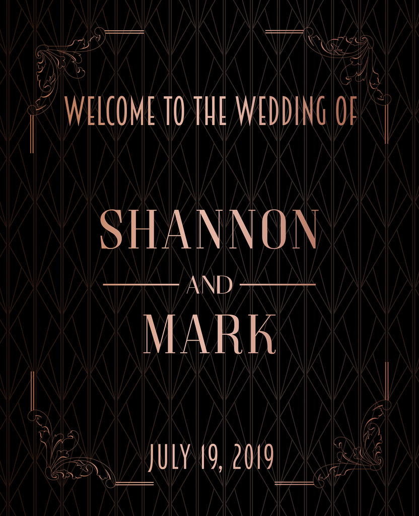 Rose Gold Wedding Sign 1
