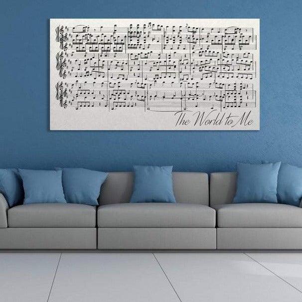 Sheet Music On Canvas Second Anniversary Gift