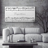 Sheet Music Canvas With Song Lyrics