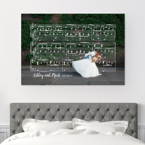 Copper Sheet Music Art - 7th Anniversary Gift