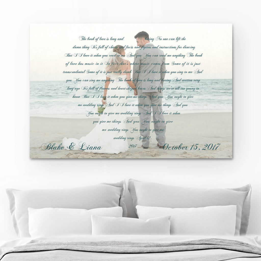 Song Lyrics On Canvas