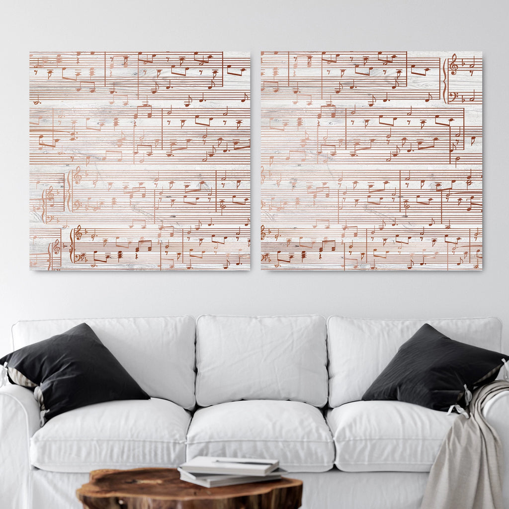 Split Sheet Music Canvas - 7th Anniversary Gift