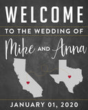 State Wedding Welcome Sign 1