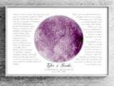 Pink Watercolor Custom Star Map Print