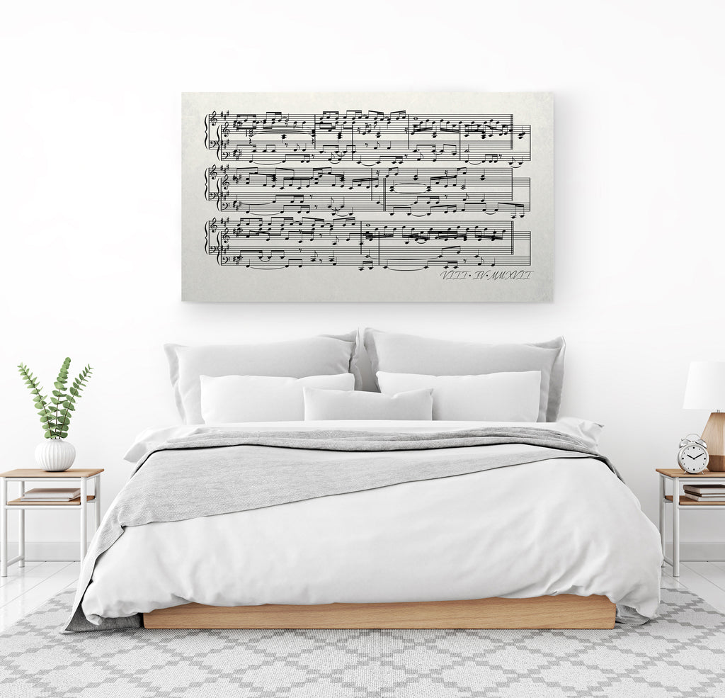 First Dance Lyrics On Canvas - Custom Made With Your Wedding Song