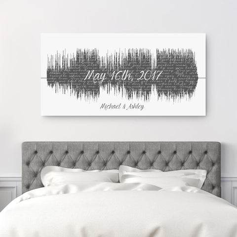 Soundwave Art - Song With Large Text