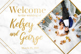 Wedding Welcome Sign - Gold Marble Edition 1