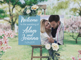 Wedding Welcome Sign Blue