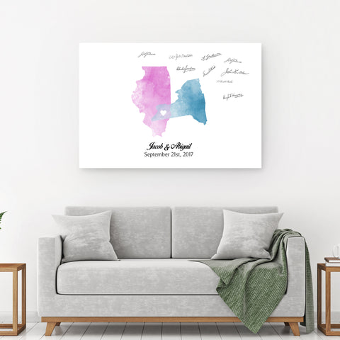 Watercolor Custom Star Map