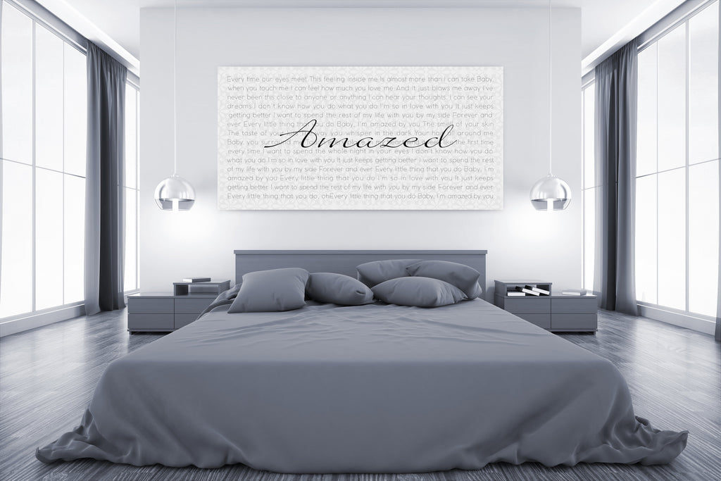 Lyric Canvas Art - Canvas Vows