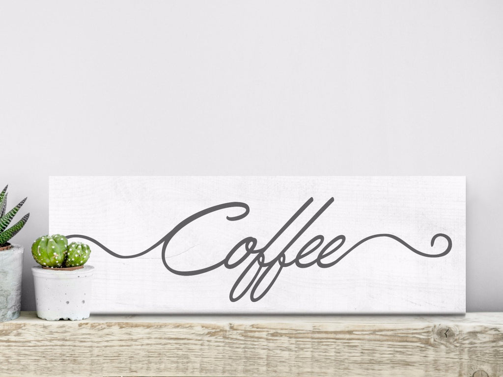 Coffee Sign - Farmhouse Style - Canvas Vows