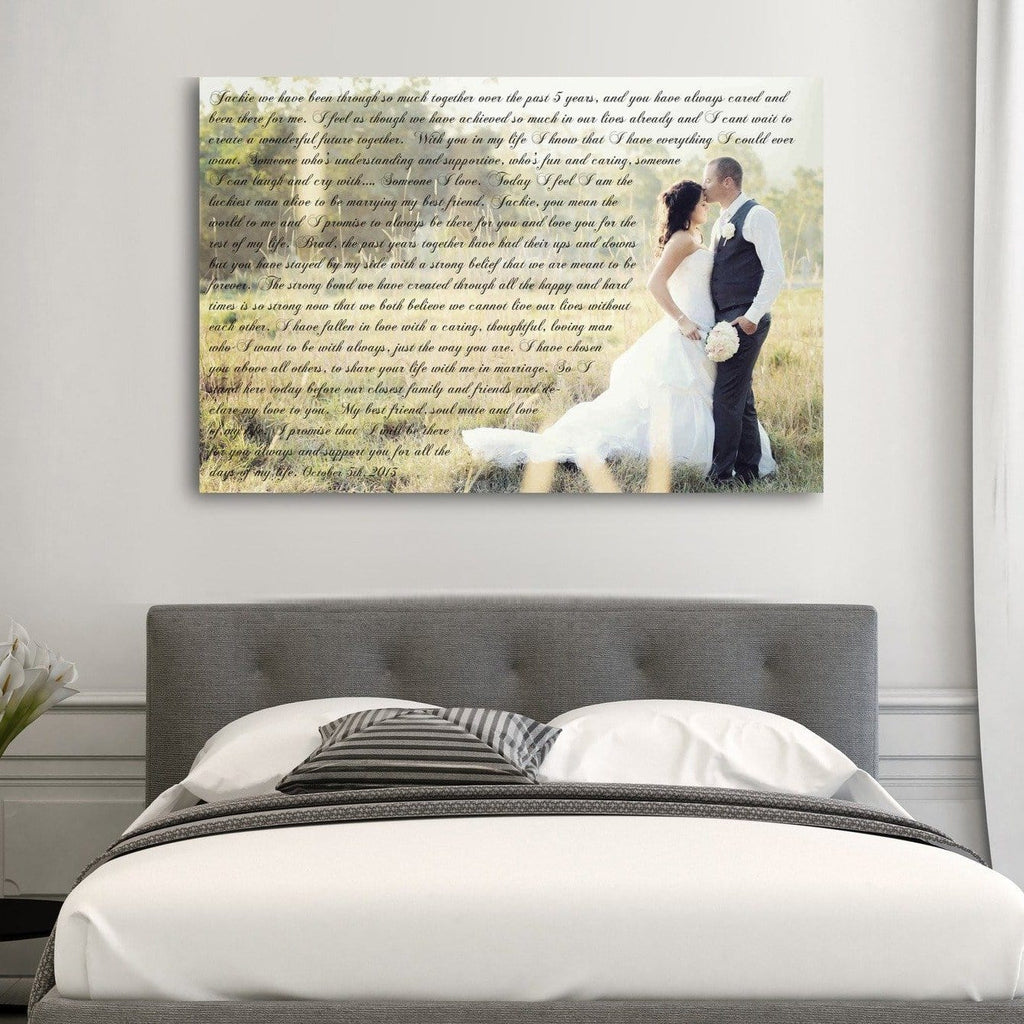 1st Anniversary Gift - A Personalized Word Art Canvas - Canvas Vows