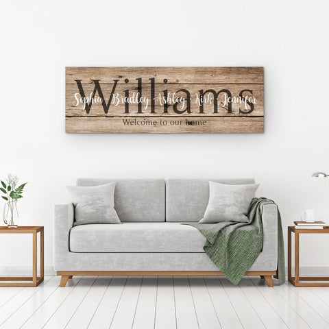 Established Sign Canvas