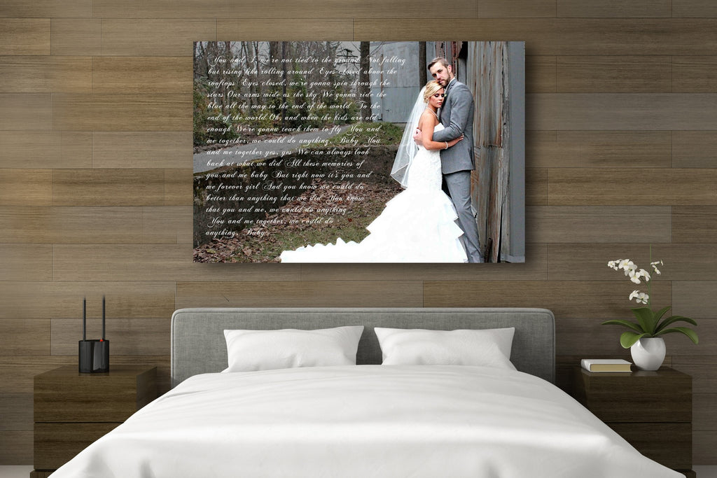 Photo Word Art Canvas - A Personalized Word Art Canvas - Canvas Vows