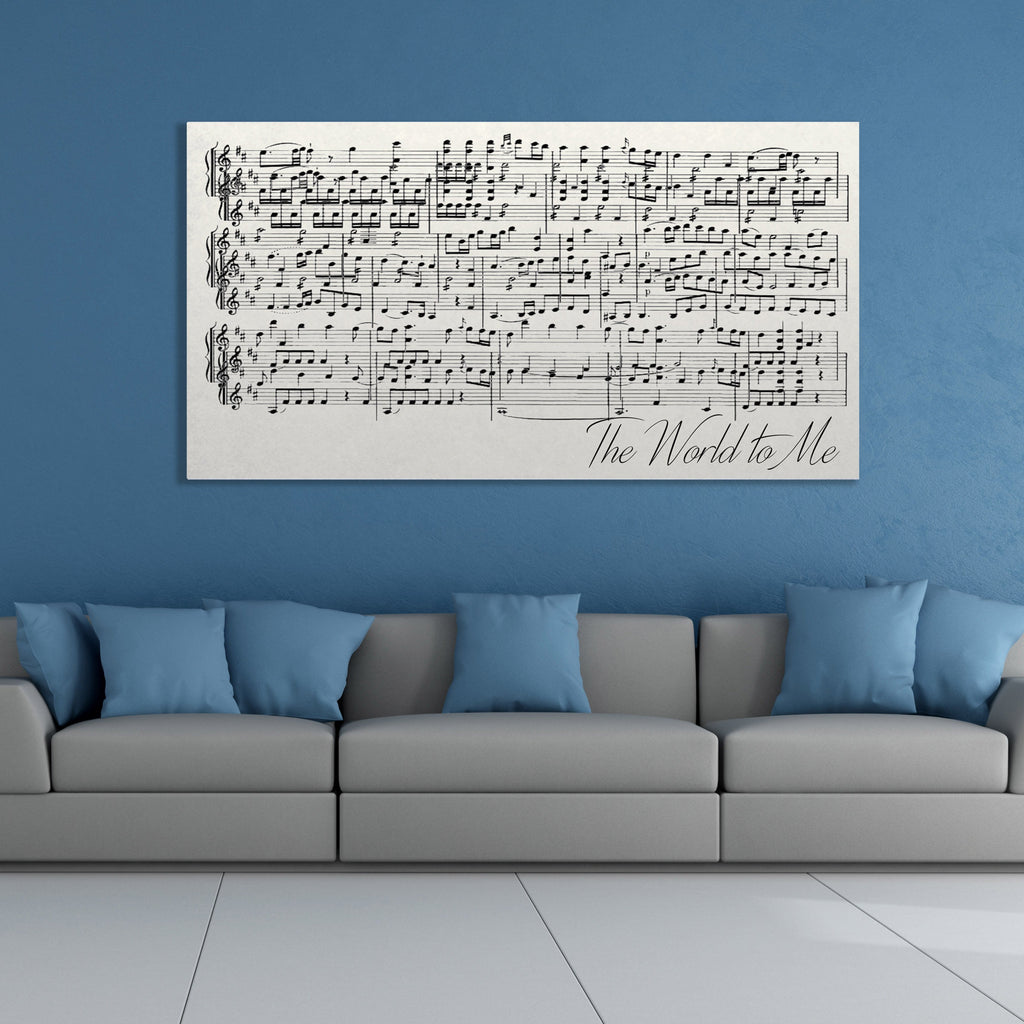 First Dance Lyrics On Canvas - A Custom Made Canvas With Your Wedding Song - Canvas Vows
