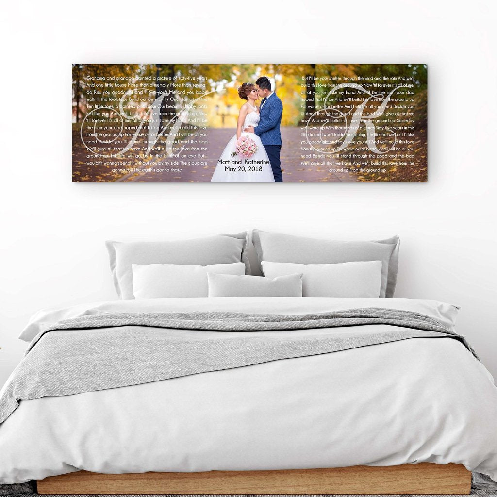His And Hers Panoramic Canvas - Canvas Vows