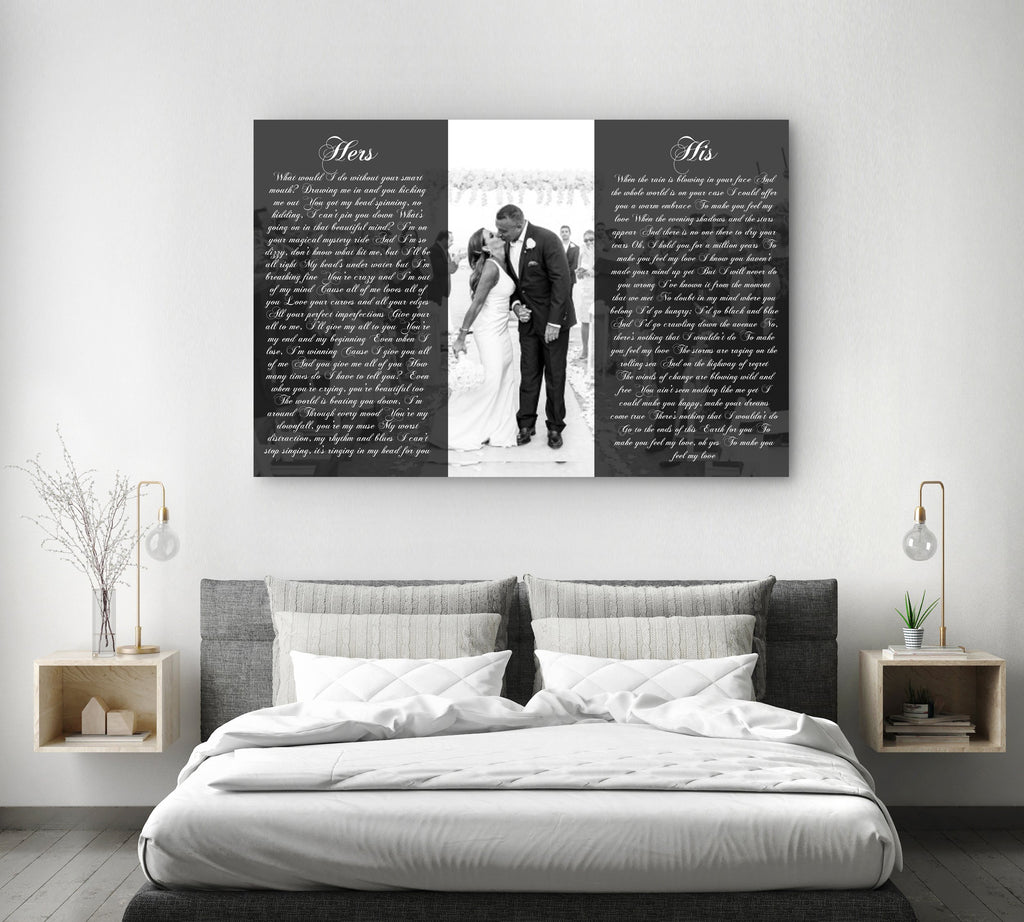 His And Hers Wall Art - Canvas Vows