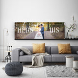 His And Hers Print - Canvas Vows