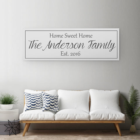 Last Name Sign - Custom Monogram Sign