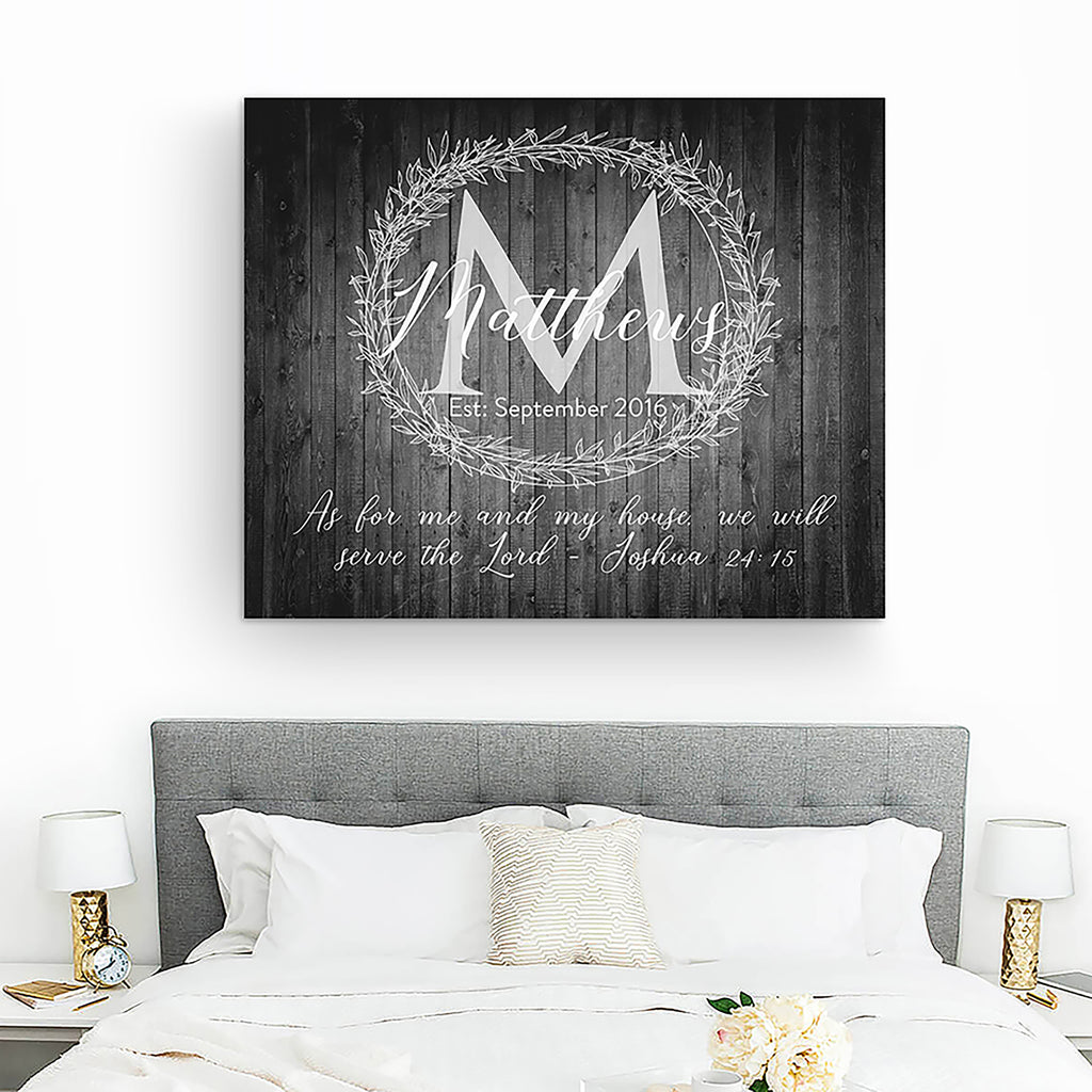 last name sign bedroom wall decor