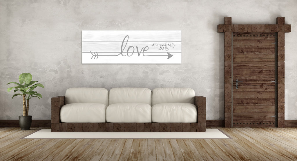 Love Arrow Canvas - Canvas Vows