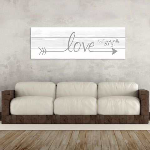 2nd Anniversary Gift - A Personalized Word Art Canvas