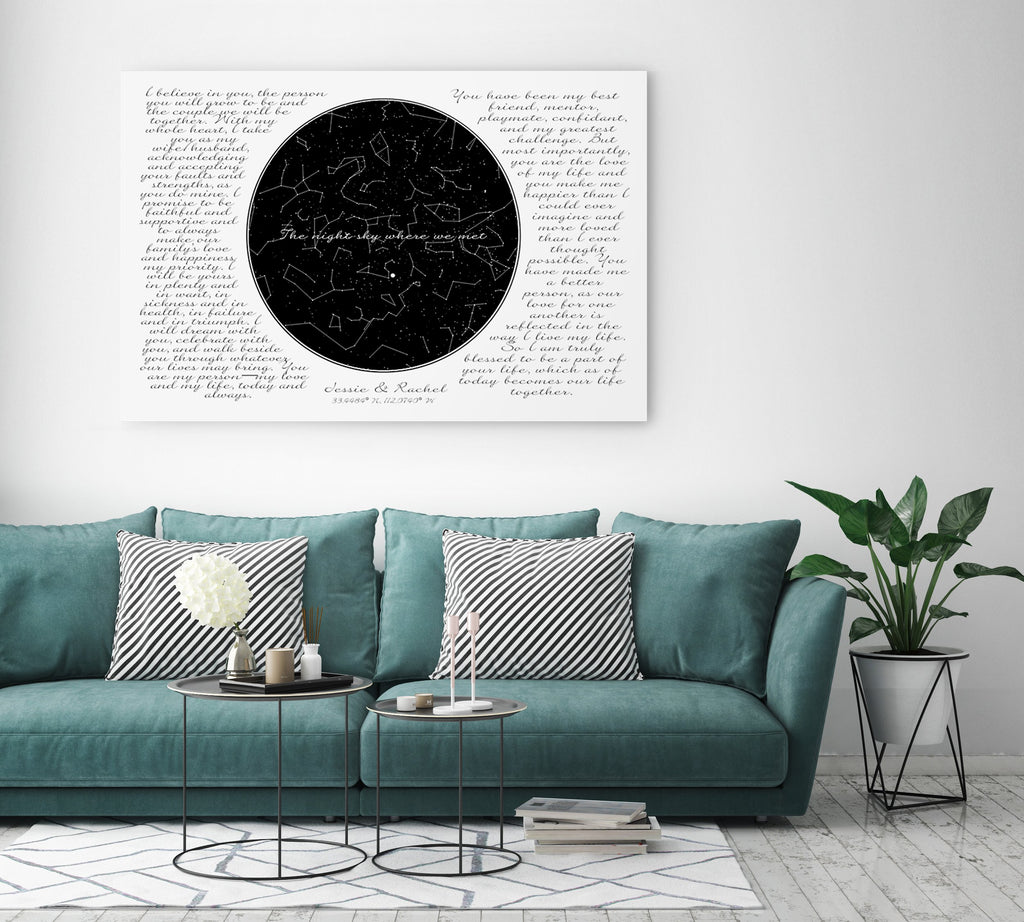 Custom Star Map - Canvas Vows