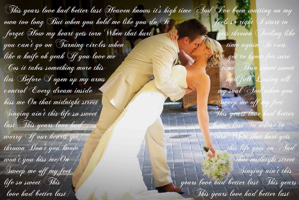First Wedding Anniversary Gift - Your Wedding Vows On Canvas - Canvas Vows