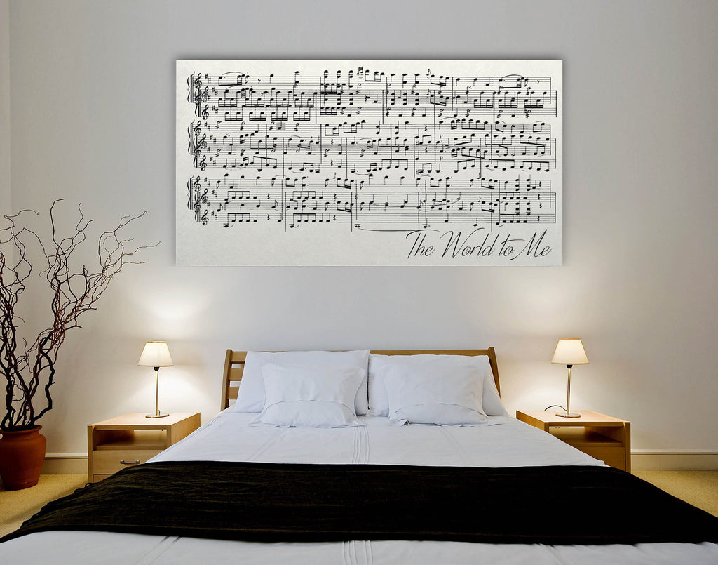 Sheet Music Wall Art - Canvas Vows