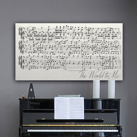Framed Song Lyrics And Sheet Music Custom Canvas